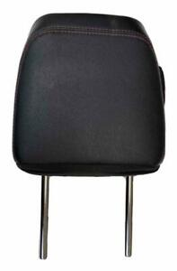 14 20 TOYOTA 4RUNNER REAR LEFT & RIGHT HEADREST BLACK LEATHER RED STICHES OEM