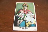 Rare Vintage Antique Postcard Humorous Comic Weather Forecast Squalls Babies