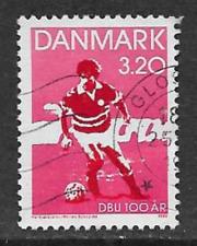 DENMARK POSTAL ISSUE USED STAMP 1989 - 100th ANNIVERSARY DANISH FOOTBALL ASSOC.