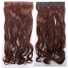100% New As Human Hair One Piece Clip In Hair Extensions Long Straight Curly us