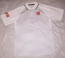 Uniqlo x Kei Nishikori French Open 2016 Short Sleeve Polo Shirt White Size S !