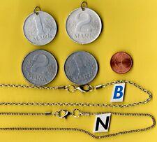 1 Stck.Silberkette, m. Anhänger ( 1 od. 2 Mark DDR ) Lg. Anh. od Ausführung ?