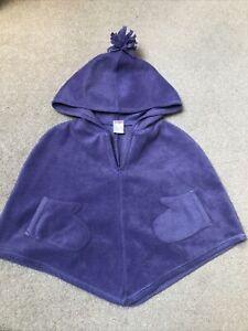 Gymboree Girls Purple Fleece Poncho 💜 Size 3-4 Years
