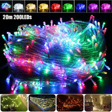 20m 200LEDs LED Guirlande Lumineuse Extérieur Étanche Décor Noël Fête Vacances