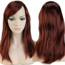 60-100cm Cosplay Wig Women Long Wavy Curly Straight Wig Modern Anime Party Black