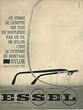 PUBLICITE ADVERTISING  1964   ESSEL  NYLOR  montage lunettes