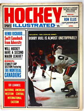(#760)Bobby Hull on cover of Hockey Illustrated 1965