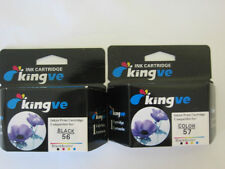 2 PK Remanufactured HP 56 57 Ink Cartridges HP56 HP57 C6656AN C6657AN