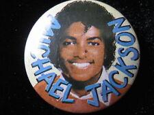 Michael Jackson-Yellow-Pin-Badge-Button-80's Vintage-Rare
