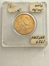 1929 Vatican City 100 Lire Gold Coin, Please See Other Gold Coins
