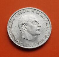 @ESTRELLA TRUCADA@ 50 Centimos 1966 19 74 moneda de aluminio 1974 ESTADO ESPAÑOL