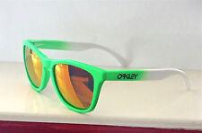 Nuevo Oakley Frogskins Gafas de Sol Verde Fade /Custom Polarizadas Ruby IRIDIO