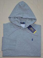 New Large L POLO RALPH LAUREN Mens pullover fleece hoodie sweatshirt gray grey