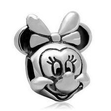 10pcs silver woman mouse European Charm Beads Fit 925 Necklace Bracelet Chain