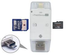 USB Flash Drive SD TF Card Reader For iPhone X 8 7 6 5 s Samsung iPad Air/ Mini