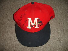 2005 Brian McCann Mississippi Braves Autographed Game Used Baseball Hat