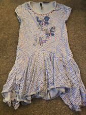 NEXT Girls Blue Sparkle Embellished butterfly Cute Tunic/ Dress Age 9 Years