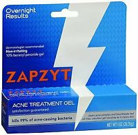 ZAPZYT Acne Treatment Gel Non-Irritating Overnight Results 1 oz (Pack of 24)