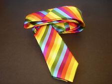 SILK TIE Pride Colours Co. UK Gay Rainbow Skinny Slim Unisex Mens