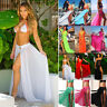 Womens Swimwear Bikini Cover Up Sheer Beach Wrap Long Skirt Sarong Pareo Dress