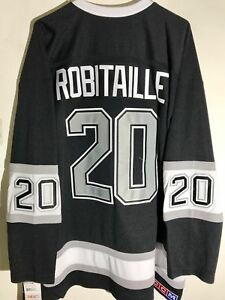 CCM Ribbed Knit LS NHL Jersey Los Angeles Kings Luc Robitaille Black Alt sz XL