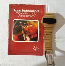 1975 Texas Instruments Model 102 Microelectric Digital Watch Parts/Repair