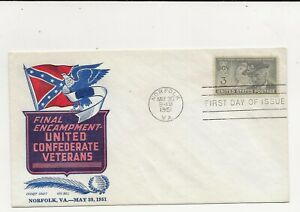 United States Comm/FDC - Final Encampment United Confederate Vets  - 1951 (089)