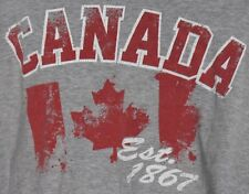 Canada 1867 Cut Off T-Shirt Tank Top Mens XL ACX Vintage Graphics Canada Day