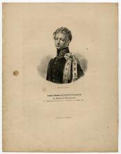 Antique Print-PORTRAIT-LOUIS CHARLES DE BONNECHOSE-OFFICER-Dulac-1832