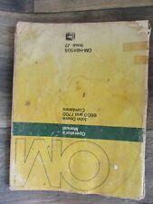 John Deere 6600 7700 Combines Omh84605 Operators Manual Book