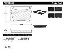 Disc Brake Pad Set-Base Front Centric 102.00040