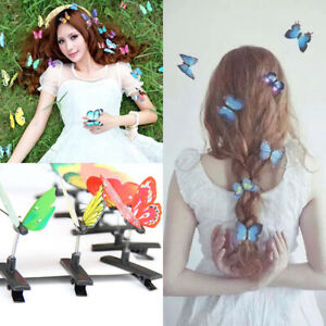 10Pcs 3D Butterfly Hair Clips Accessory Festival Party Wedding Stage Photography