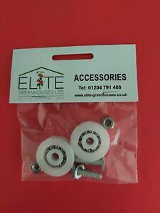 GENUINE Elite 32mm Greenhouse Door Wheels & Fittings - FREE POST