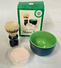 Van Der Hagen Premium Shave Set Shave Soap Ceramic Bowl Boar Bristle Shave Brush