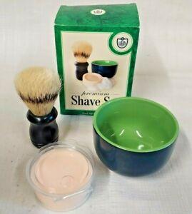 Van Der Hagen Premium Shave Set Shave Soap Ceramic Bowl Boar Bristle Shave Brush