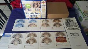 Family Tree Maker Family Genealogy by Broderbund 15 CD's Version 6