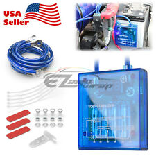 Universal Car Battery Blue Voltage Stabilizer Regulator Ground Power Efficiency