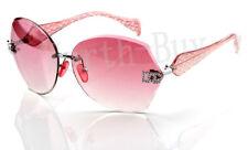 New DG Eyewear Womens Rimless Round Shield Designer Sunglasses Shades Fashion PK