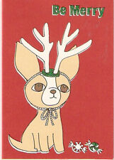 Chihuahua Glittery Christmas Cards - Box of 12