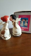 "Vintage 60's Composite/Plastic Musical 8"" Kissing Angels * Silent Night w/Box"
