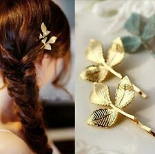 Gold Leaf Hair Clip Boho Jewellery Beachwear Summer Clothes Gift For Her