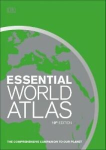NEW Essential World Atlas By DK Hardcover Free Shipping