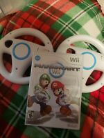 Mario Kart Nintendo Wii Complete w/ Manual CIB with 2 Steering Wheels Tested