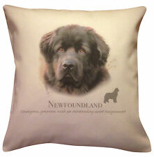 More details for newfoundland | quality cream or white 100% cotton cushion cover with zip | gift