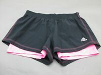 Adidas Size M Womens Black/Pink Athletic Climalite Running Track Shorts 144