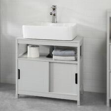 SoBuy Waschbeckenunterschrank Badschrank mit Fußpolster Unterschrank FRG128-HG