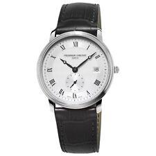 Frédérique Constant Slimline Men's FC-245M4S6 Quartz Silver-Tone Dial 37mm Watch