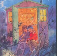 "PETER PAN & WENDY IN TREE HOUSE ""LOVE LOOKING OUTWARD"" FAIRY TALE GREETING CARD"