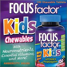 FOCUSfactor Kids, 150 Chewable Tablets Brand New ~Made in USA ~