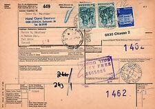 Switzerland Zurich-Israel,1975,Registered multifranked parcel card XV